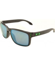 Oakley OO9102-69 Holbrook Black Ink - Jade Iridium Polarized Sunglasses