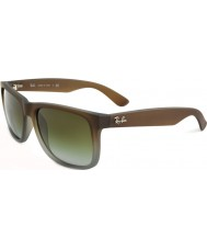 RayBan RB4165 51 Justin Rubber Brown On Grey 854-7Z Sunglasses