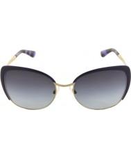 Dolce and Gabbana DG2143 57 Sicilian Taste Pale Gold Violet 12538G1 Sunglasses