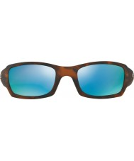 Oakley OO9238-17 Fives Squared Matte Tortoiseshell - Prizm Deep H2O Polarized Sunglasses