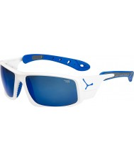 Cebe Ice 8000 Shiny White Blue Sunglasses
