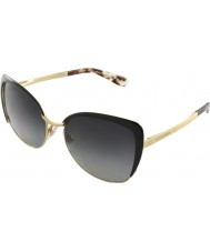 Dolce and Gabbana DG2143 57 Sicilian Taste Pale Gold Black 488-T31 Polarized Sunglasses
