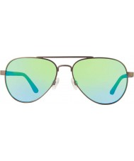 Revo RE1011 Raconteur Gunmetal - Green Water Polarized Sunglasses
