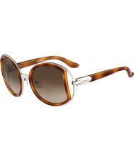 Salvatore Ferragamo Ladies SF719S Light Tortoiseshell Sunglasses
