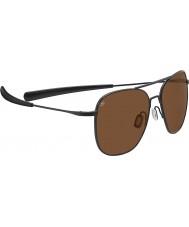 Serengeti Aerial Titanium Satin Black Drivers Sunglasses