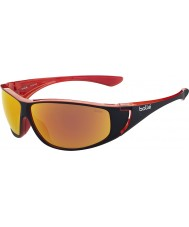 Bolle Highwood Shiny Black Red Polarized TNS Fire Sunglasses