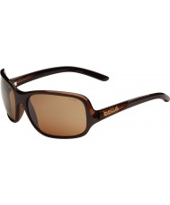 Bolle Kassia Shiny Chocolate Polarized Sandstone Gun Sunglasses