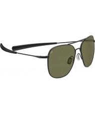 Serengeti Aerial Titanium Satin Black 555nm Sunglasses