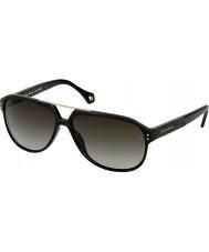 Zegna Mens SZ3654M-700 Shiny Black Sunglasses