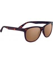 Serengeti Ostuni Shiny Dark Tortoiseshell Polarized Drivers Gold Mirror Sunglasses