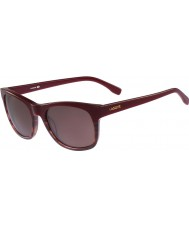 Lacoste L779S Burgundy Striped Sunglasses