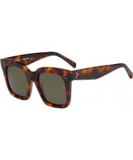 Celine Ladies CL 41076-S 05L 1E Havana Sunglasses