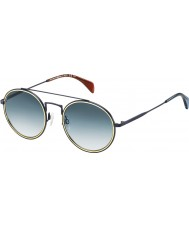 Tommy Hilfiger TH 1455-S BQZ 08 Matte Blue Sunglasses