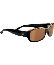 Serengeti Chloe Shiny Brown Cork To Black Polarized Drivers Sunglasses