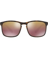 RayBan RB4264 58 Tech Chromance Matte Havana 894-6B Brown Mirror Polarized  Sunglasses