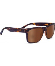 Serengeti Positano Sanded Dark Tortoiseshell Polarized Drivers Gold Mirror Sunglasses