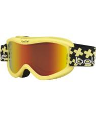 Bolle 21359 Volt Plus Matte Yellow Cross - Sunrise Ski Goggles - 6 plus Years