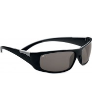 Serengeti Fasano Shiny Black Grey Polarized PhD CPG Sunglasses