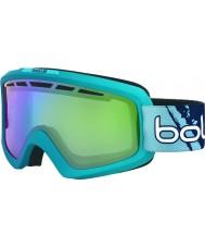 Bolle 21466 Nova II Matte Blue Gradient - Green Emerald Ski Goggles