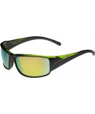 Bolle Keelback Shiny Black Green Polarized Brown Emerald Sunglasses