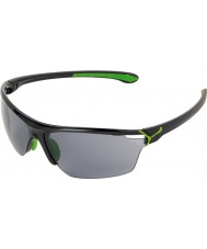 Cebe Cinetik Large Shiny Black Green Sunglasses