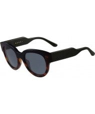 Marni Ladies ME600S Havana and Blue Sunglasses