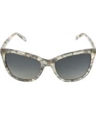 Dolce and Gabbana DG4193M 56 Iconic Logo Grey Marble 2913T31 Polarized Sunglasses