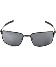 Oakley OO4075-01 Square Wire Polished Black - Black Iridium Sunglasses