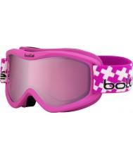 Bolle 21362 Volt Plus Matte Pink Cross - Vermillon Gun Ski Goggles - 6 plus Years