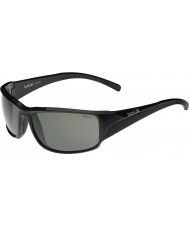 Bolle Keelback Shiny Black Modulator Polarized Grey Sunglasses