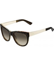 Gucci Ladies GG 3739-S 2EZ HA Havana Flower Gold Sunglasses