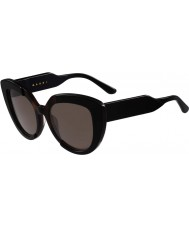 Marni Ladies ME601S Black and Havana Sunglasses