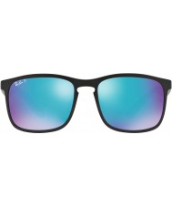 RayBan RB4264 58 Tech Chromance Matte Black 601SA1 Blue Flash Polarized Sunglasses