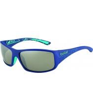 Bolle Kingsnake Matt Blue Polarized TNS Gun Sunglasses