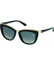Swarovski Ladies Pale Gold-Black SK0061 Diva Sunglasses