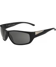 Bolle Keel Shiny Black Modulator Polarized Grey Sunglasses