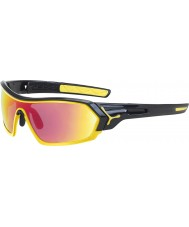 Cebe S-Print Shiny Black Yellow Sunglasses