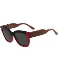 Marni Ladies ME604S Black and Red Sunglasses