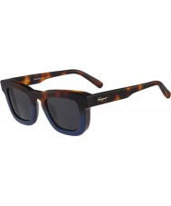 Salvatore Ferragamo Mens SF771S Havana Blue Sunglasses