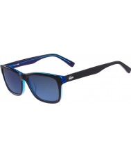 Lacoste L683S Matte Black Blue Sunglasses