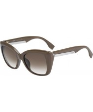 Fendi 2Jours FF 0019-S 6QX DB Mud Brown Sunglasses