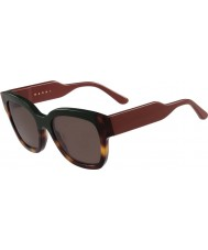 Marni Ladies ME604S Green and Havana Sunglasses