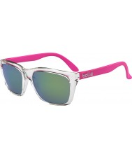 Bolle 527 Retro Collection Shiny Crystal Pink Brown Emerald Sunglasses