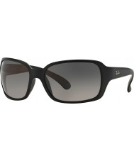 RayBan RB4068 60 Highstreet Matte Black 601SM3 Polarized Sunglasses