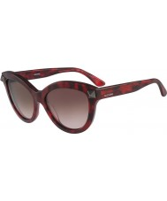 Valentino Ladies V695S Red Havana Sunglasses