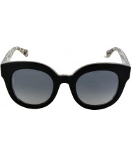 Dolce and Gabbana DG4235 49 Enchanted Beauties Top Black Leo 2857T31 Polarized Sunglasses