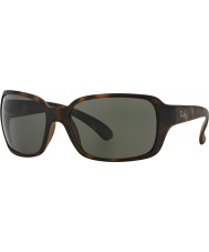 RayBan RB4068 60 Highstreet Matte Havana 894-58 Polarized Sunglasses