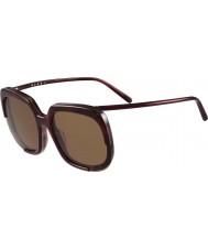 Marni Ladies ME608S Bordeaux and Havana Sunglasses