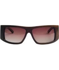 Swole Panda Charcoal Polarized Bamboo Sports Sunglasses