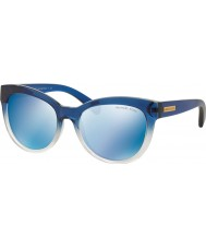 Michael Kors MK6035 53 Mitzi I Blue Shaded 312255 Blue Mirror Sunglasses